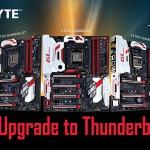 GIGABYTEのIntel Thunderbolt 3対応マザーのラインナップが拡大
