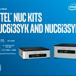 Skylake版Core i3搭載NUC「NUC6i3SYK」「NUC6i3SYH」が発売開始