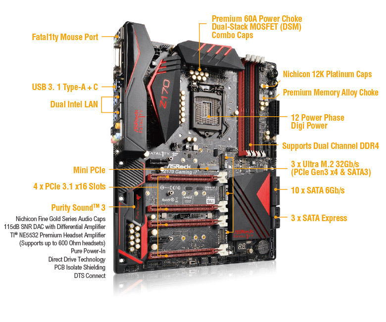 Fatal1ty Z170 Professional Gaming i7-1
