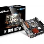 ASRockのH110チップセット搭載Mini-ITXマザー「H110M-ITX/ac」発売