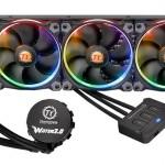 Thermaltakeの256色LEDファン付き水冷一体型CPUクーラー「Water 3.0 Riing Edition」発売