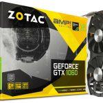 ZOTACのGTX1060グラボ「ZOTAC GeForce GTX 1060 6GB AMP Edition」発売。オリジナルクーラー搭載+OC済み