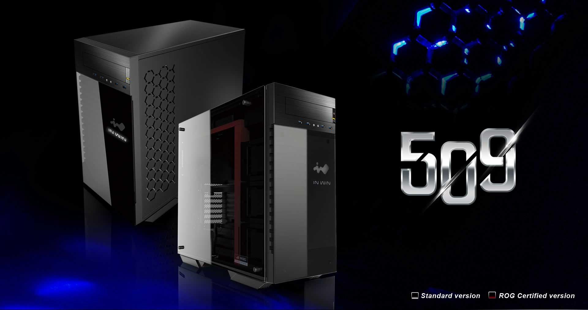 In Winより強化ガラス採用E-ATXフルタワーPCケース「509」発売