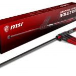 MSIより重量級グラフィックスカードをケース内で支える「MSI特製GAMING突っ張り棒」発売