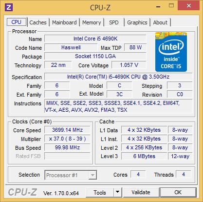 Core i5-4690K CPU-Z