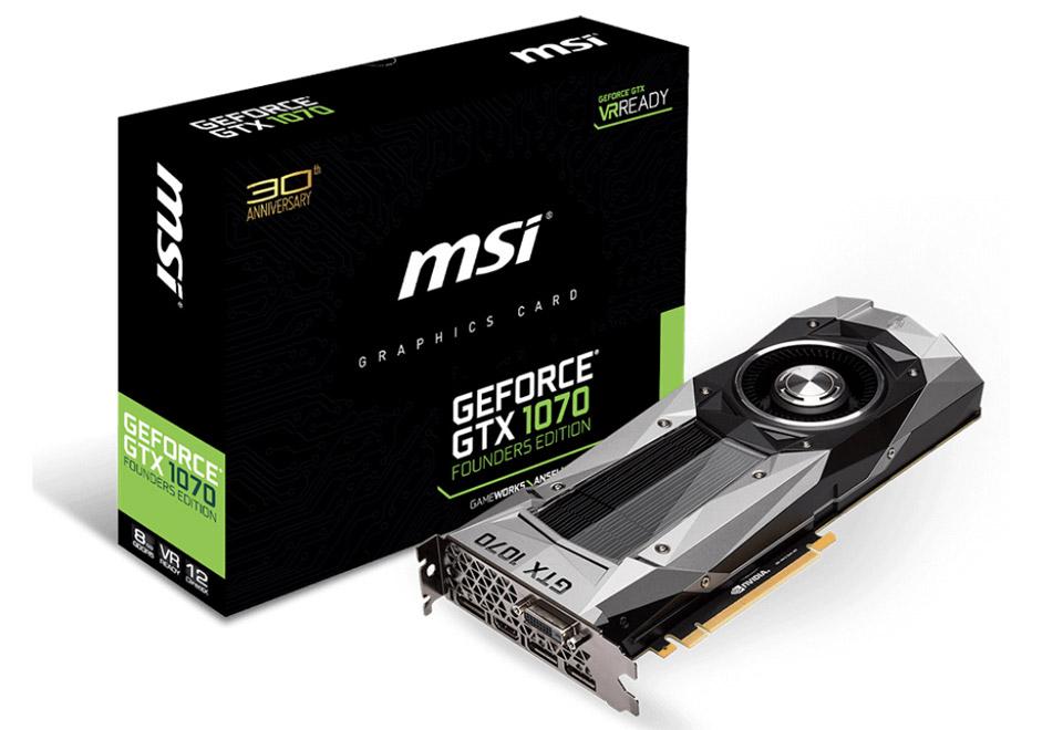 MSI-GeForce GTX 1070 Founders Edition