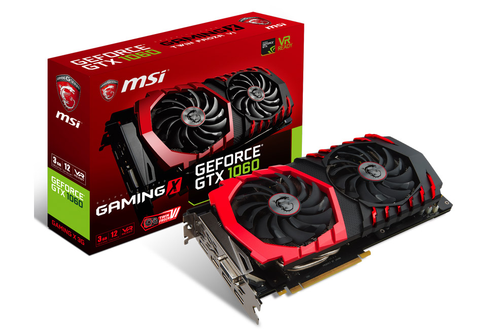 GeForce GTX 1060 GAMING X 3G