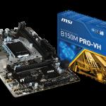 MSIのビジネス&一般ユーザー向けの低価格microATXマザー「B150M PRO-VH」発売