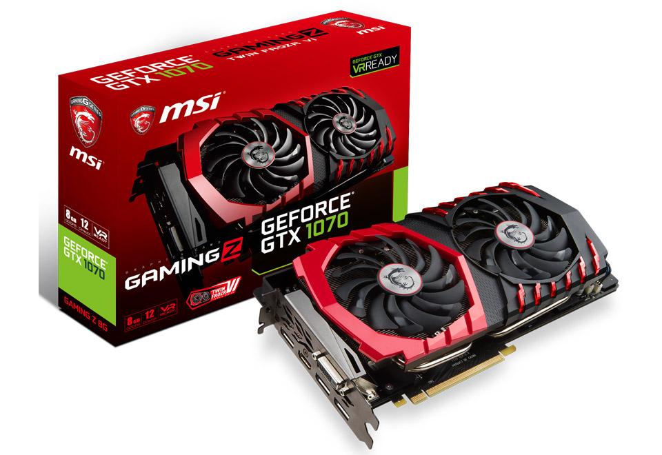 MSI GeForce GTX 1070 GAMING Z 8G