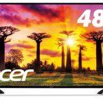 Acerの48.5型4K液晶ディスプレイ「EB490QKbmiiipx」発売