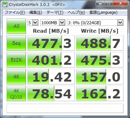 CrystalDiskMark 0Fill